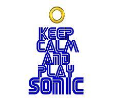 Sega Sonic Tshirt  Photographic Print