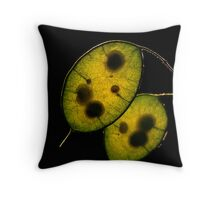Honesty Seed Pods Throw Pillow
