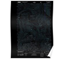 USGS Topo Map Oregon China Cap 20110816 TM Inverted Poster