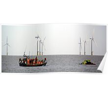 Mersey Class Lincolnshire Poacher & D Class Peterborough Beer Festival IV Lifeboats Poster
