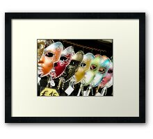 Masks Venice Framed Print
