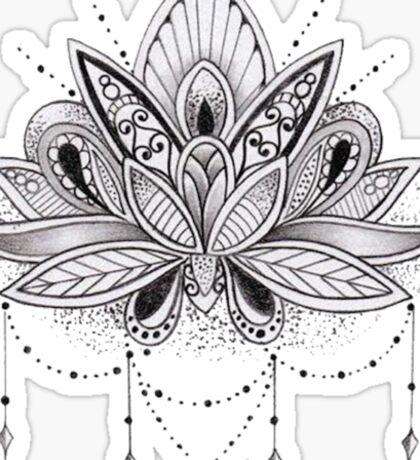 Mandala Lotus Flower Sticker