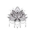 Mandala Lotus Flower by mermaidnatalie