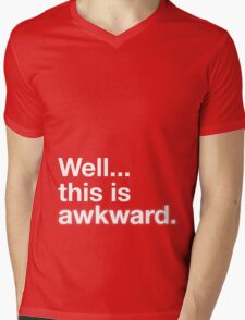 Well this is awkward Mens V-Neck T-Shirt