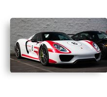 918 Spyder with Weissach Package Canvas Print