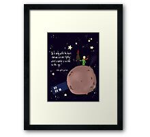 Doctor who meet a little prince Framed Print