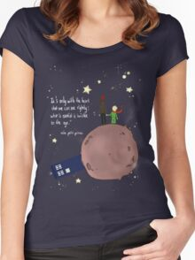 Doctor who meet a little prince Women's Fitted Scoop T-Shirt