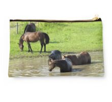 """The Horses 5: Camera Shy""... prints and products Studio Pouch"