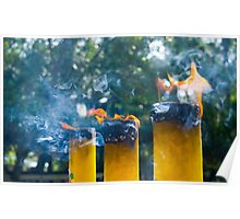 Lantau Island Buddha Temple - Incense Candles Poster