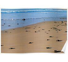 Rocks on a beach - Apollo Bay, Victoria Poster