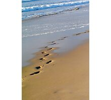 Footsteps on the beach - Apollo Bay, Victoria Photographic Print
