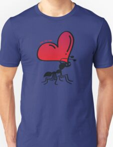 Ant Carrying the Love's Heart Unisex T-Shirt