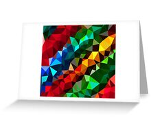 Abstract  multi colored Greeting Card