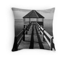 Whale Head Bay Pier Throw Pillow