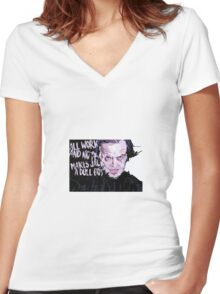 Jack Nicholson Shining Women's Fitted V-Neck T-Shirt
