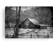 A Memory in Black and White Canvas Print