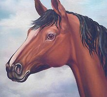 Quarter Horse Stallion  by Vivian Eagleson