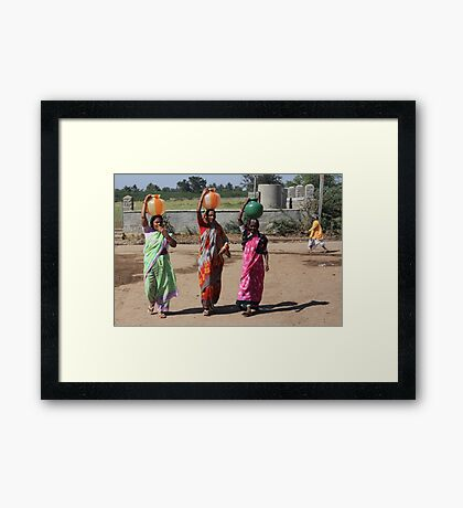 Pots of Drinking Water Framed Print