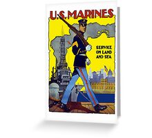 U.S. Marines -- Service On Land And Sea Greeting Card