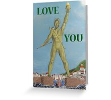 Colossus, LOVE  YOU Greeting Card