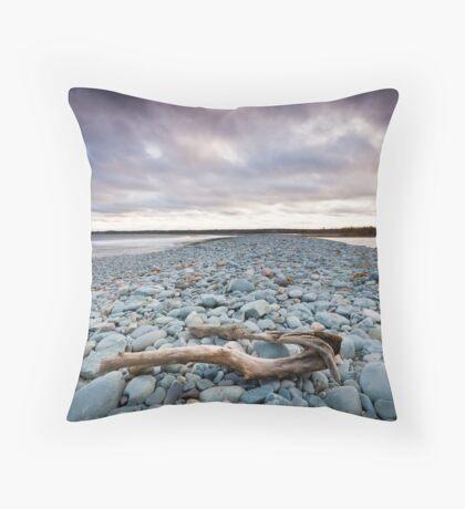 Cow Bay Sunset Throw Pillow