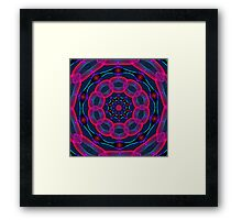 Psychedelic Circles Framed Print