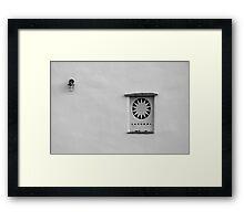 Cycladic minimalism Framed Print