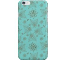 Gilded Roses Pale Green Cyan iPhone Case/Skin