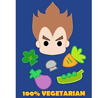 Vegeta - 100percent vegetarian Photographic Print