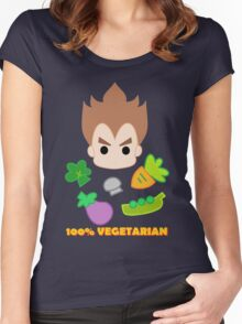 Vegeta - 100percent vegetarian Women's Fitted Scoop T-Shirt