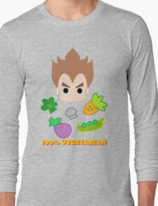 Vegeta - 100percent vegetarian Long Sleeve T-Shirt