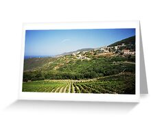 Typical Corsican landscape Greeting Card
