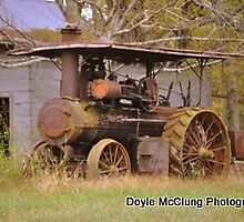 """Old Steam Tractor"" by Doyle  McClung"