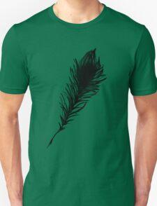 Black Bird Feather Beauty Unisex T-Shirt