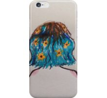 Girl with Flowers in her Hair iPhone Case/Skin