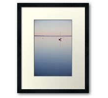 Calm sea at Oare Marshes 1 Framed Print