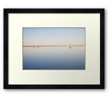 Calm sea at Oare Marshes 2 Framed Print