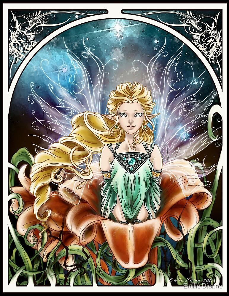 Art Nouveau: Fairy of the Night by Emilie Dionne