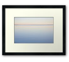 Calm sea at Oare Marshes 4 Framed Print