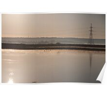 Swale at Sunset Poster