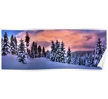 winter dream panorama Poster