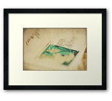 Don't Blink or You'll miss it Framed Print