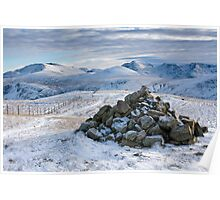 Frosty Lakeland Fells Poster
