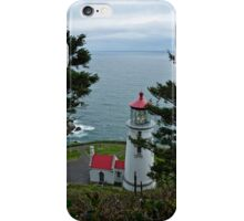 Heceta Head Lighthouse - Looking Over The Ocean iPhone Case/Skin