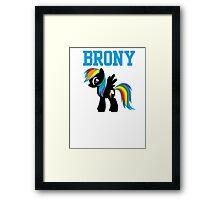 20% Cooler Brony Framed Print