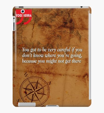 Going Nowhere (Quotation) iPad Case/Skin