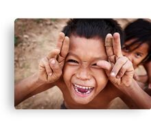 Cambodian Children, Kampong Cham Canvas Print