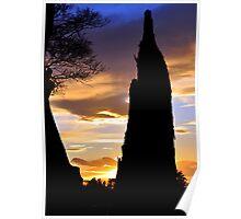 Dead Tree Sunset Poster