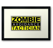 Zombie Avoidance Tactician Framed Print
