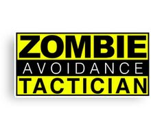 Zombie Avoidance Tactician Canvas Print